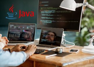 software engineer job picture and java logo